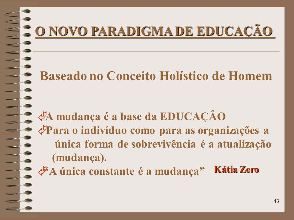 O NOVO PARADIGMA DE EDUCAÇÃO