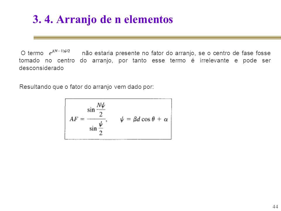 3. 4. Arranjo de n elementos