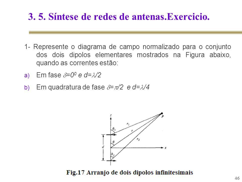 3. 5. Síntese de redes de antenas.Exercicio.