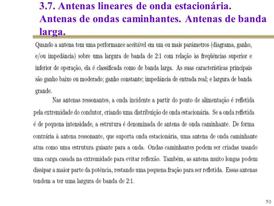 3. 7. Antenas lineares de onda estacionária
