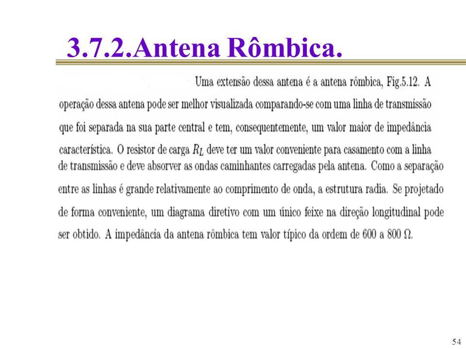 3.7.2.Antena Rômbica. 54 54