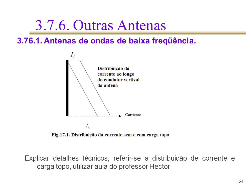 3.7.6. Outras Antenas 3.76.1. Antenas de ondas de baixa freqüência.