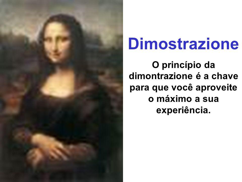 Dimostrazione O princípio da dimontrazione é a chave para que você aproveite o máximo a sua experiência.