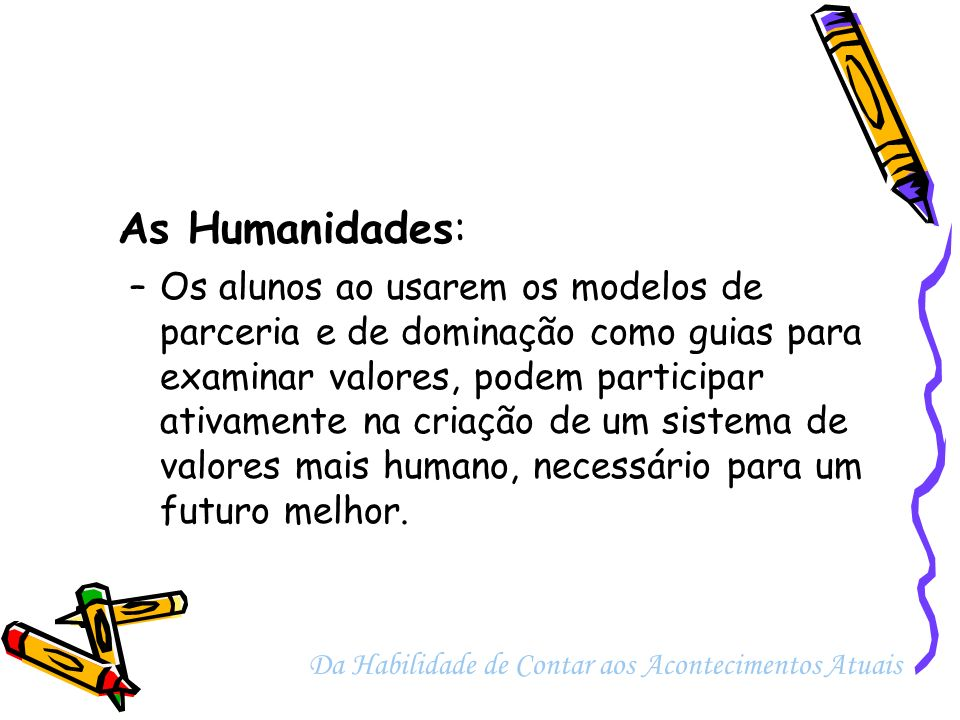As Humanidades: