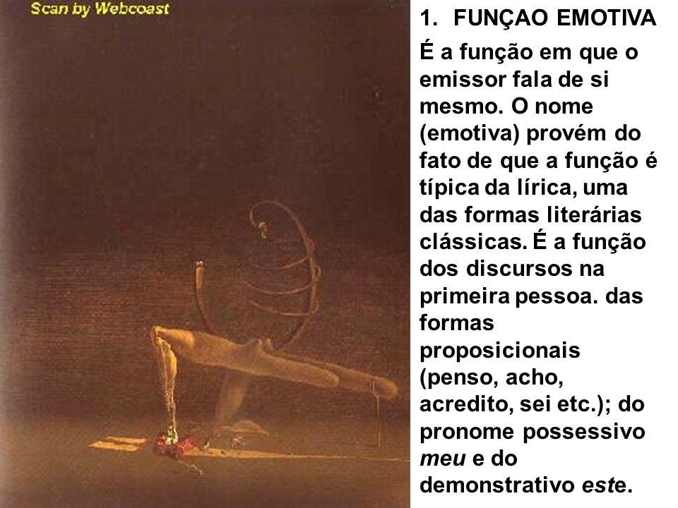 FUNÇAO EMOTIVA