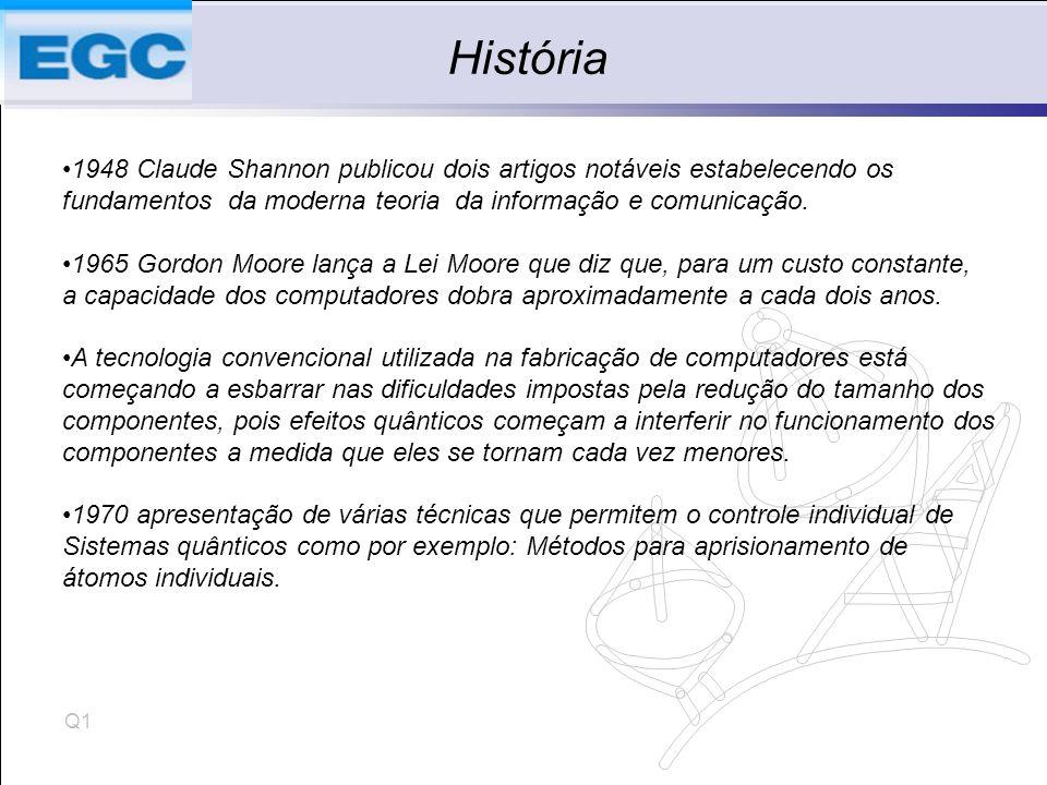 História 1948 Claude Shannon publicou dois artigos notáveis estabelecendo os. fundamentos da moderna teoria da informação e comunicação.