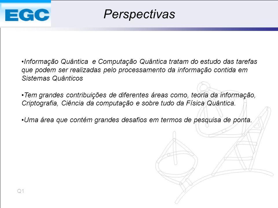 Perspectivas Informação Quântica e Computação Quântica tratam do estudo das tarefas.