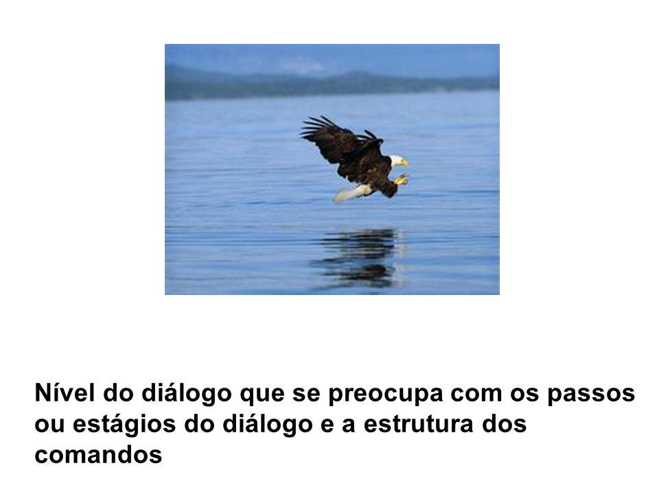 Nível do diálogo que se preocupa com os passos ou estágios do diálogo e a estrutura dos comandos