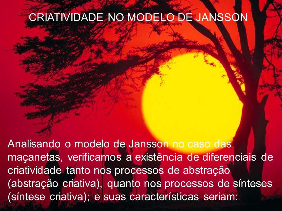 CRIATIVIDADE NO MODELO DE JANSSON