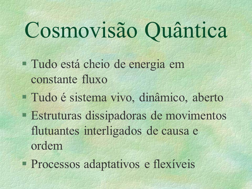 Cosmovisão Quântica Tudo está cheio de energia em constante fluxo