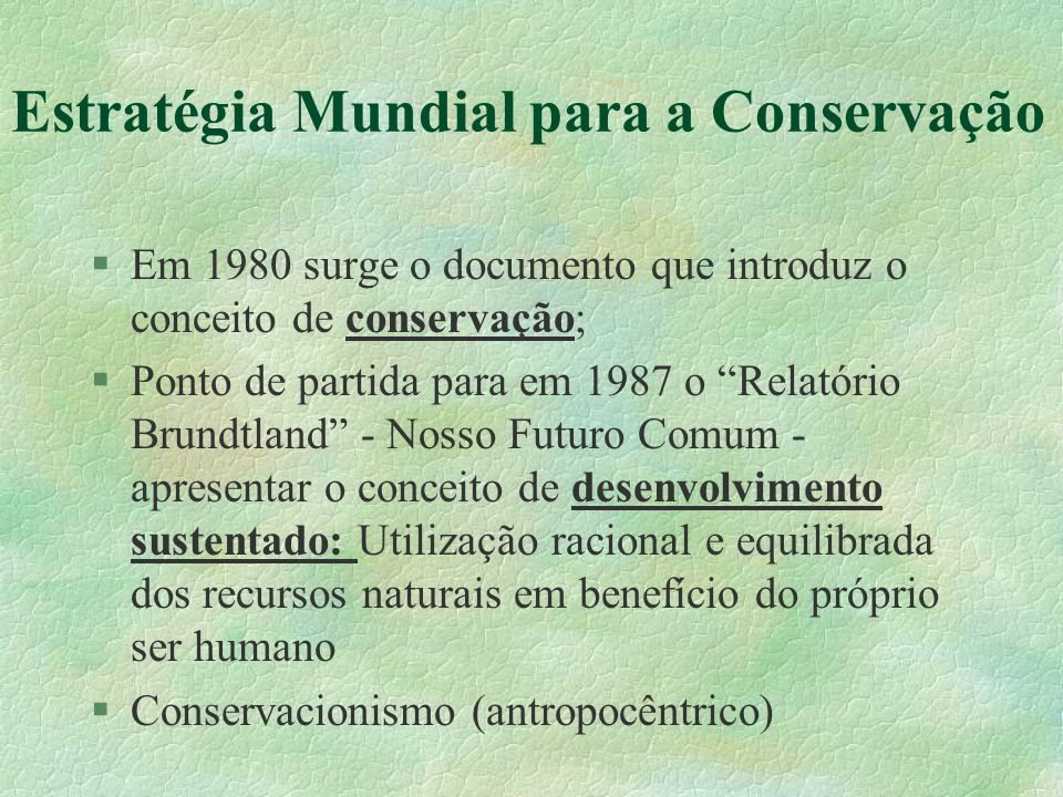 Estratégia Mundial para a Conservação