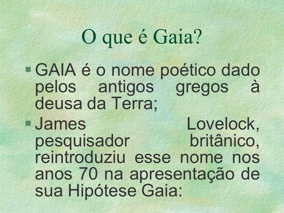 O que é Gaia GAIA é o nome poético dado pelos antigos gregos à deusa da Terra;