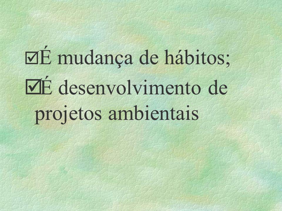 É desenvolvimento de projetos ambientais