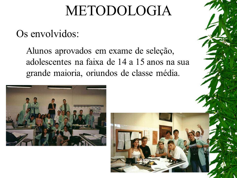 METODOLOGIA Os envolvidos: