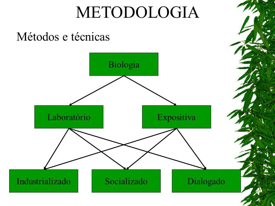 METODOLOGIA Métodos e técnicas Biologia Laboratório Dialogado