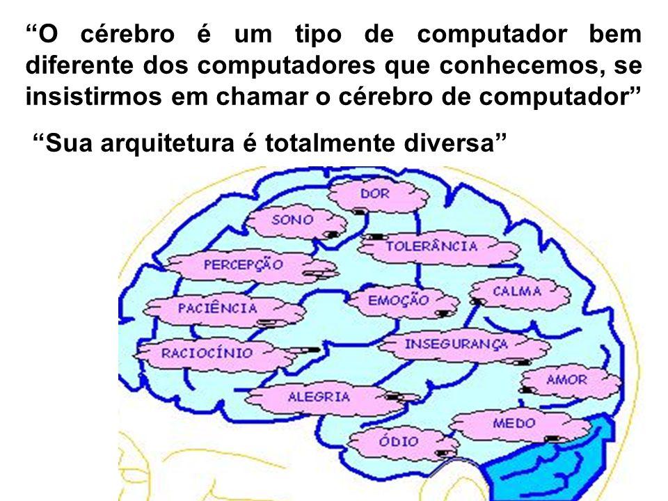 O cérebro é um tipo de computador bem diferente dos computadores que conhecemos, se insistirmos em chamar o cérebro de computador