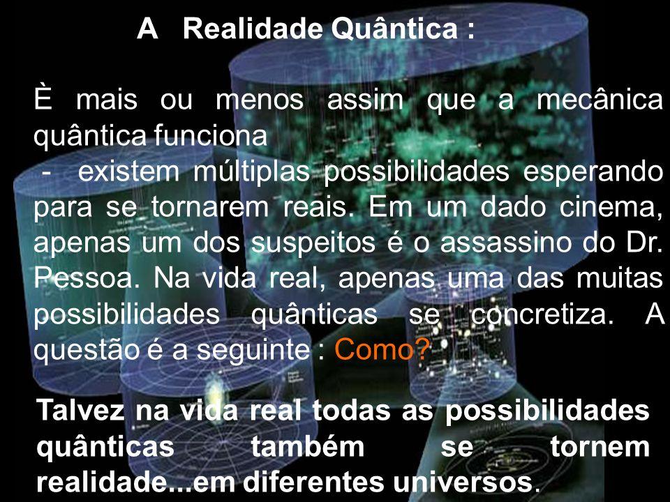A Realidade Quântica : È mais ou menos assim que a mecânica quântica funciona.