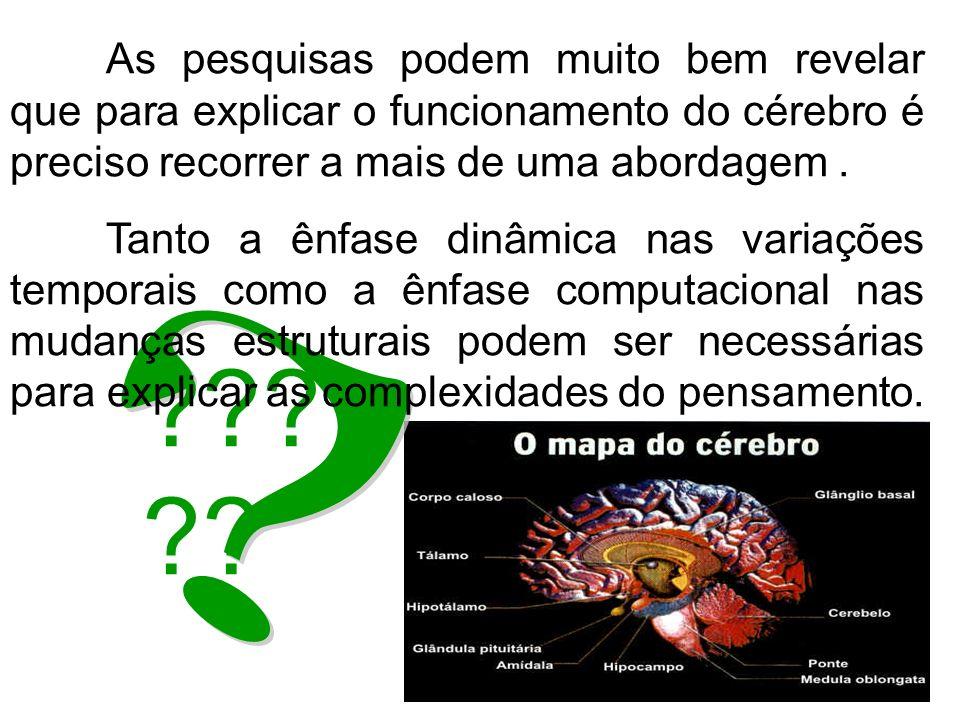As pesquisas podem muito bem revelar que para explicar o funcionamento do cérebro é preciso recorrer a mais de uma abordagem .