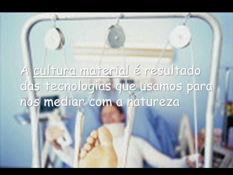 A cultura material é resultado das tecnologias que usamos para nos mediar com a natureza