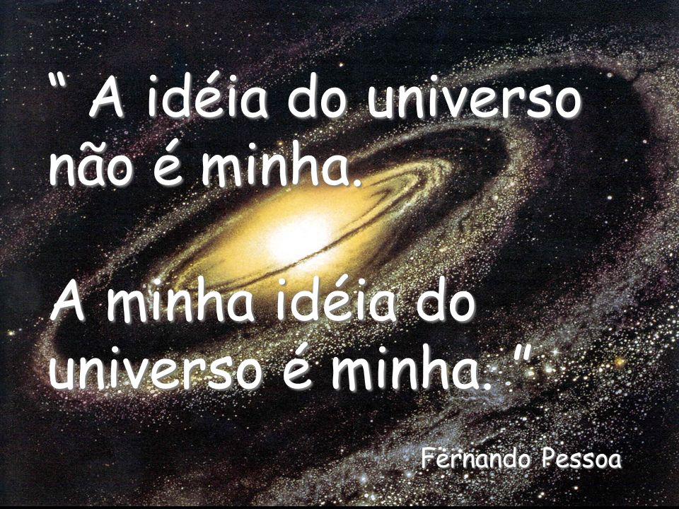 A idéia do universo não é minha. A minha idéia do universo é minha.