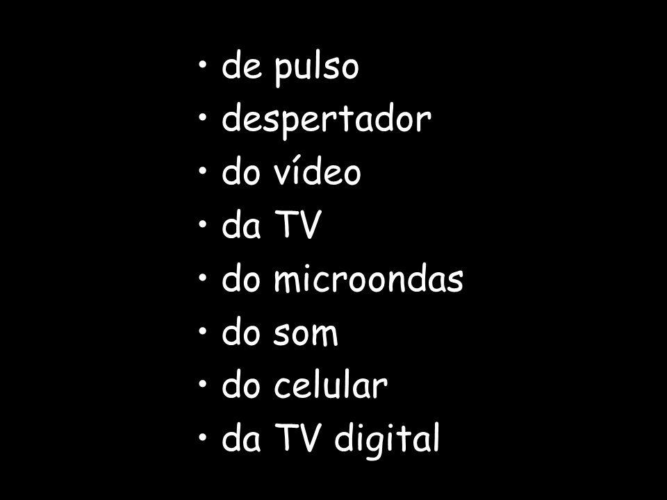 de pulso despertador do vídeo da TV do microondas do som do celular da TV digital