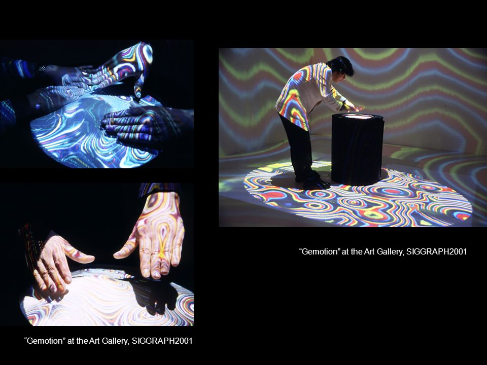 Figure Gemotion at the Art Gallery, SIGGRAPH2001