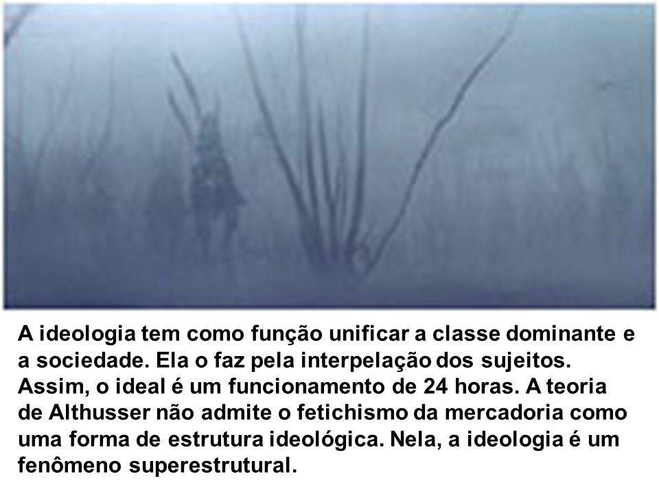 A ideologia tem como função unificar a classe dominante e a sociedade