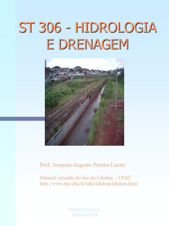 ST 306 - HIDROLOGIA E DRENAGEM