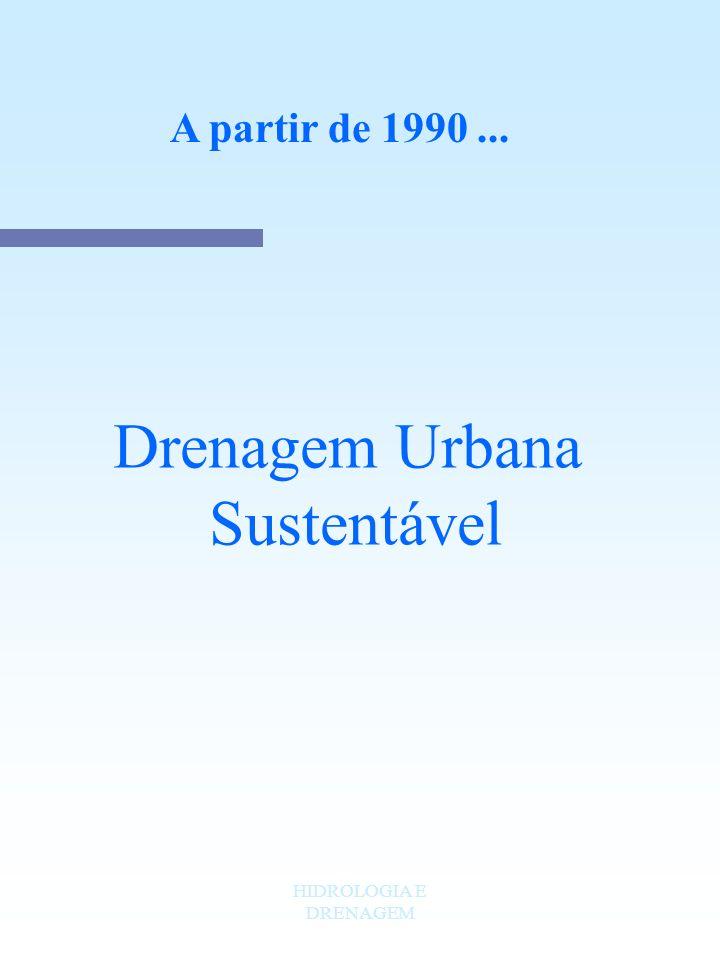 A partir de 1990 ... Drenagem Urbana Sustentável HIDROLOGIA E DRENAGEM