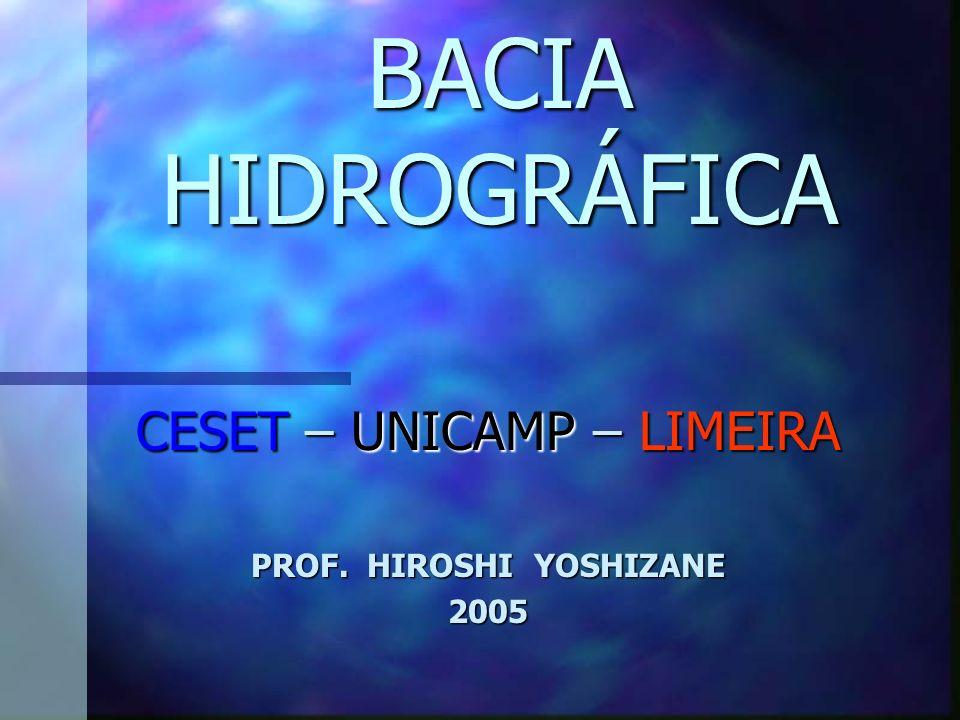 CESET – UNICAMP – LIMEIRA PROF. HIROSHI YOSHIZANE 2005