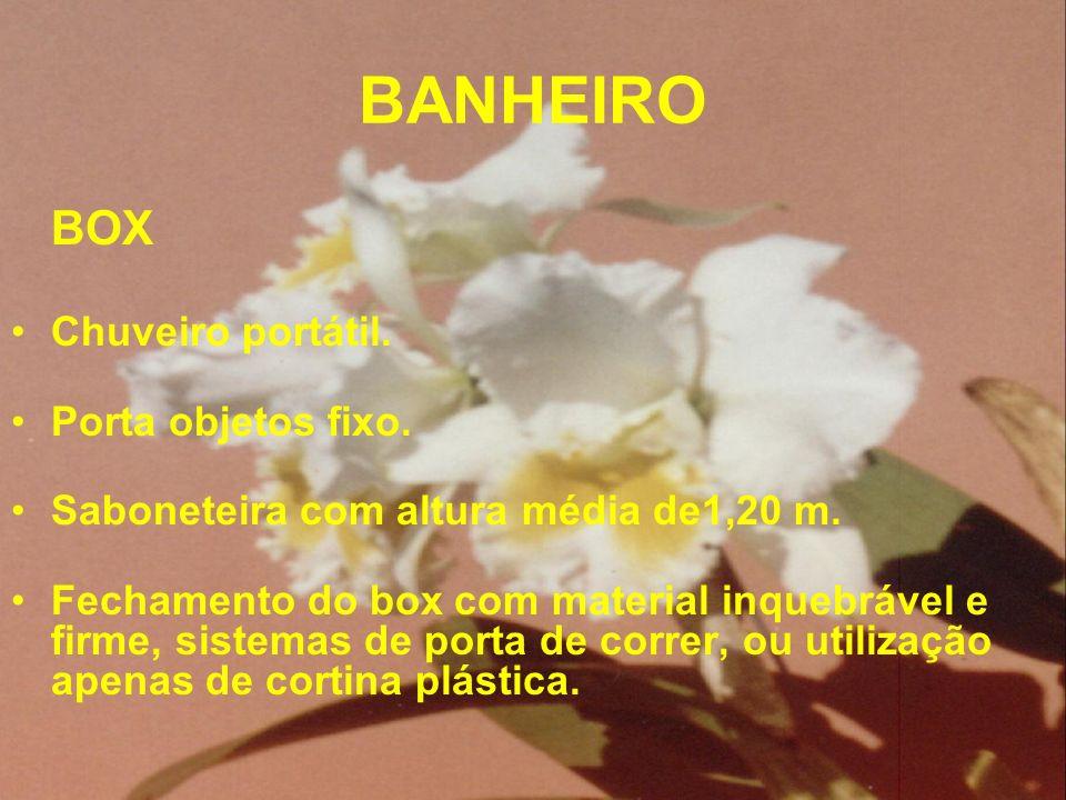 BANHEIRO BOX Chuveiro portátil. Porta objetos fixo.