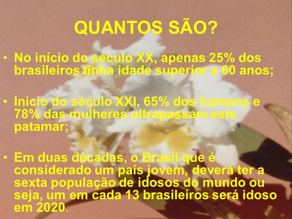 QUANTOS SÃO No início do século XX, apenas 25% dos brasileiros tinha idade superior a 60 anos;