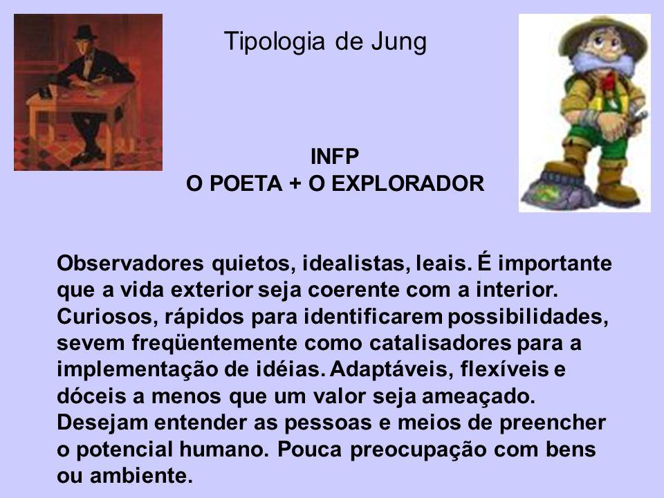 Tipologia de Jung INFP O POETA + O EXPLORADOR
