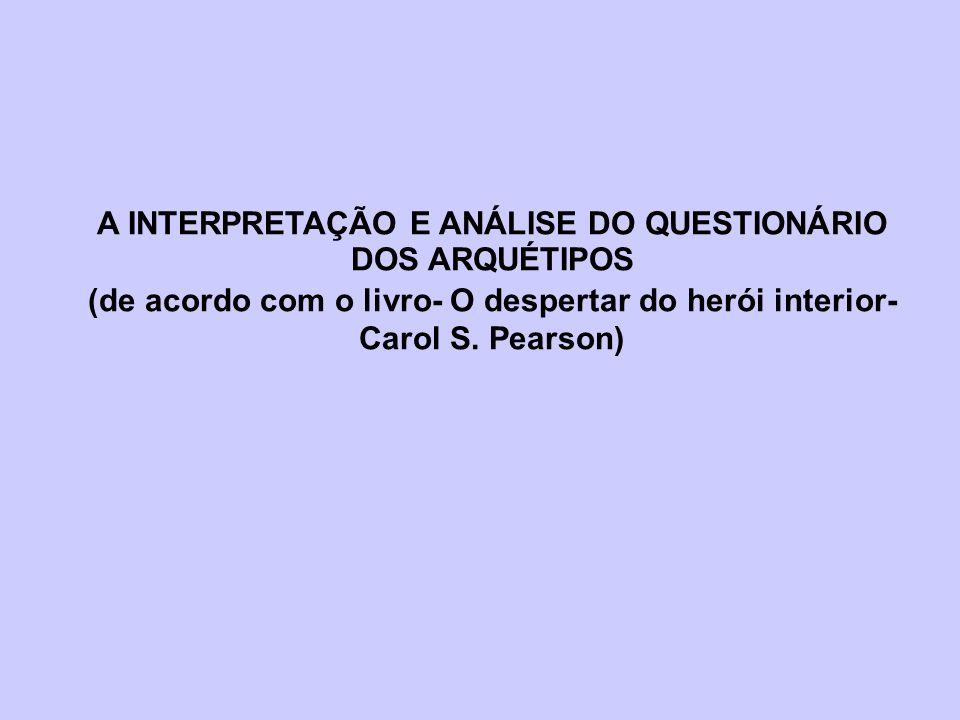 A INTERPRETAÇÃO E ANÁLISE DO QUESTIONÁRIO DOS ARQUÉTIPOS
