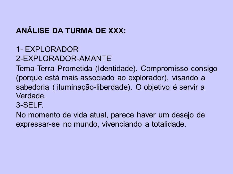 ANÁLISE DA TURMA DE XXX: