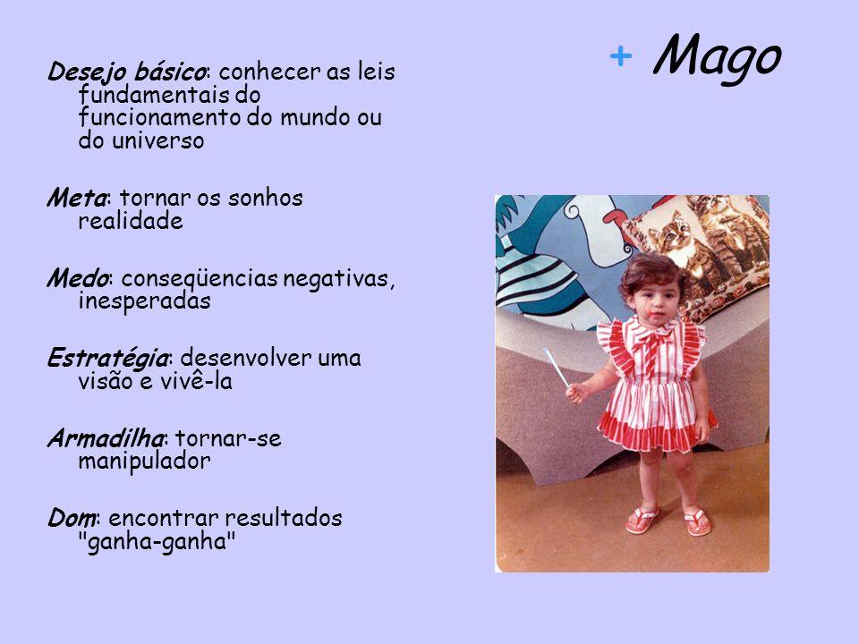 + Mago Desejo básico: conhecer as leis fundamentais do funcionamento do mundo ou do universo. Meta: tornar os sonhos realidade.