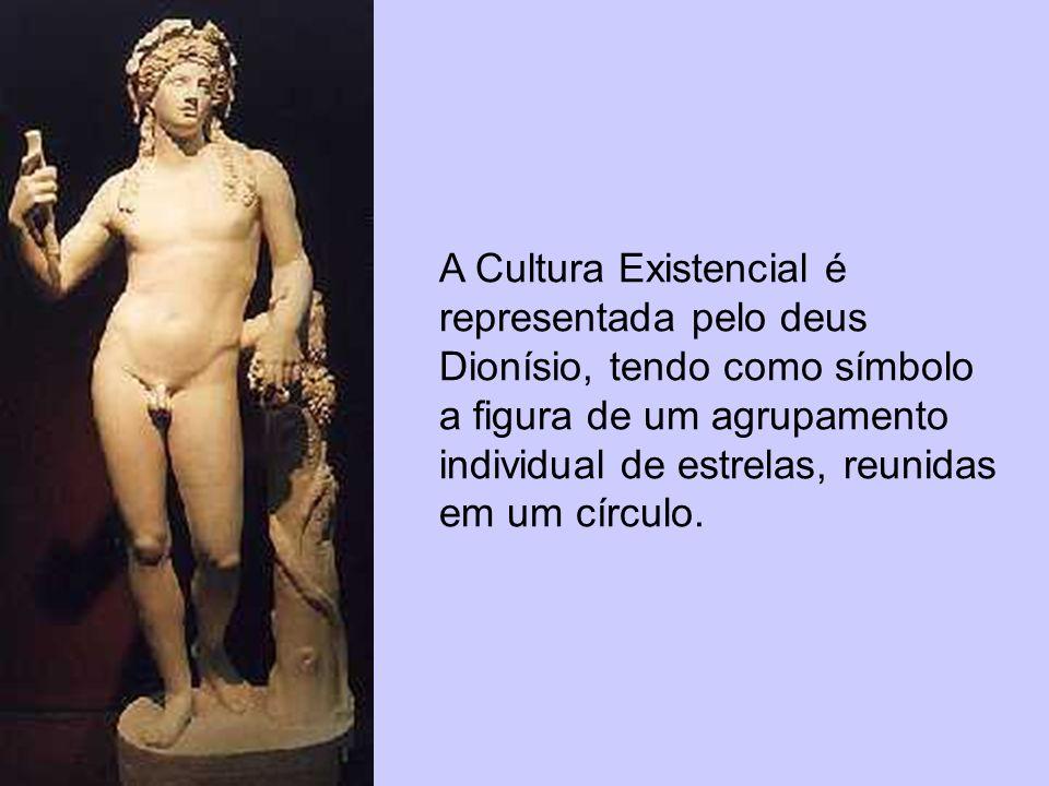 A Cultura Existencial é representada pelo deus Dionísio, tendo como símbolo a figura de um agrupamento individual de estrelas, reunidas em um círculo.