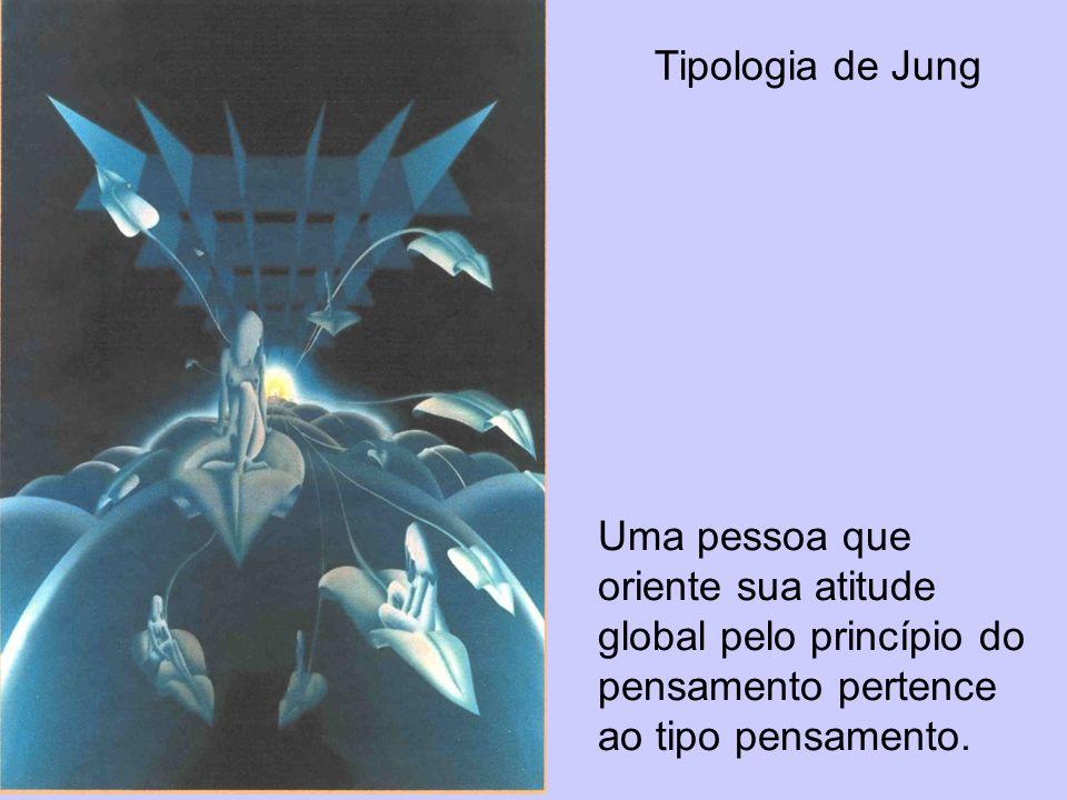 Tipologia de JungUma pessoa que oriente sua atitude global pelo princípio do pensamento pertence ao tipo pensamento.