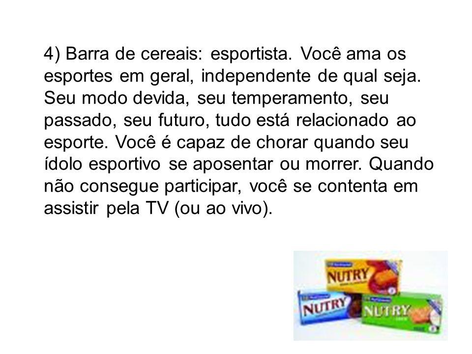 4) Barra de cereais: esportista