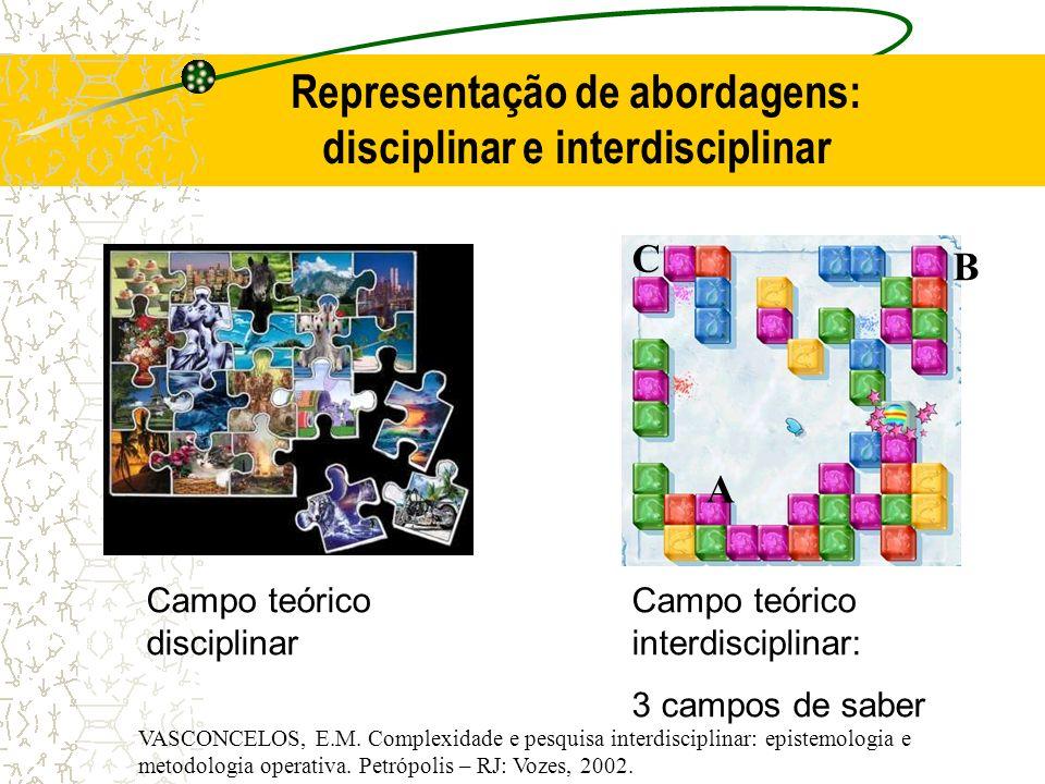 Representação de abordagens: disciplinar e interdisciplinar
