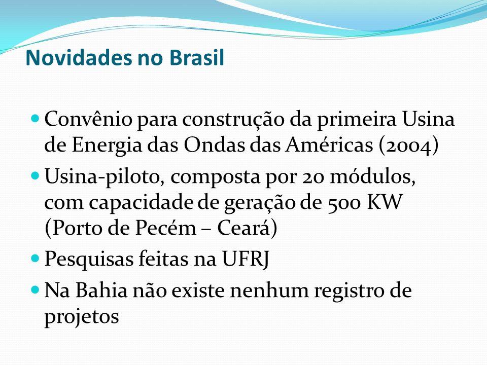 Novidades no Brasil Convênio para construção da primeira Usina de Energia das Ondas das Américas (2004)
