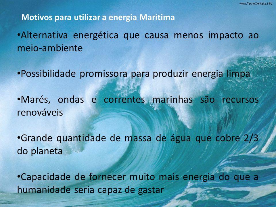 Alternativa energética que causa menos impacto ao meio-ambiente