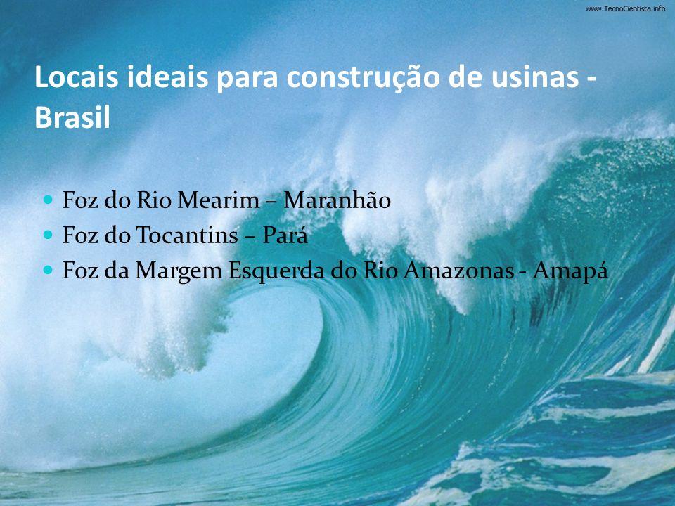 Locais ideais para construção de usinas - Brasil
