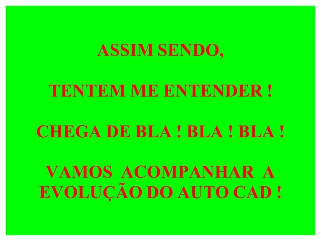 ASSIM SENDO, TENTEM ME ENTENDER. CHEGA DE BLA. BLA. BLA