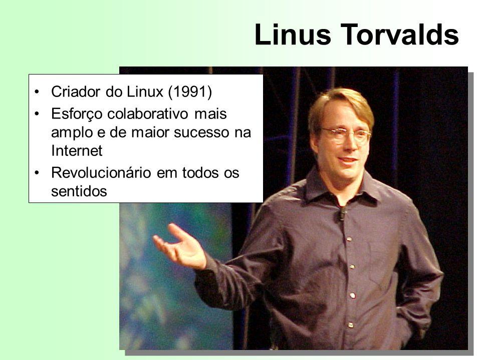Linus Torvalds Criador do Linux (1991)