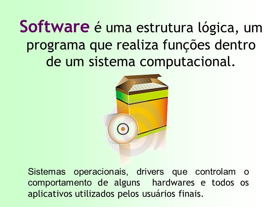 Software é uma estrutura lógica, um programa que realiza funções dentro de um sistema computacional.