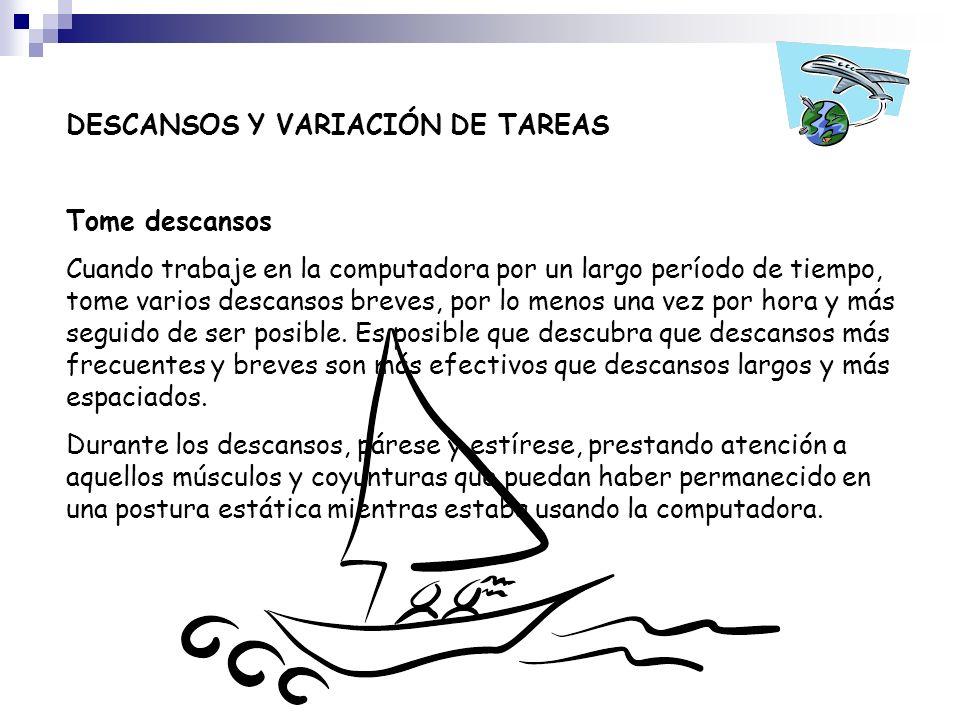 DESCANSOS Y VARIACIÓN DE TAREAS