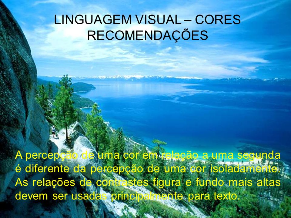 LINGUAGEM VISUAL – CORES