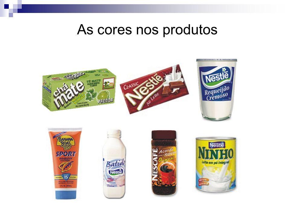 As cores nos produtos