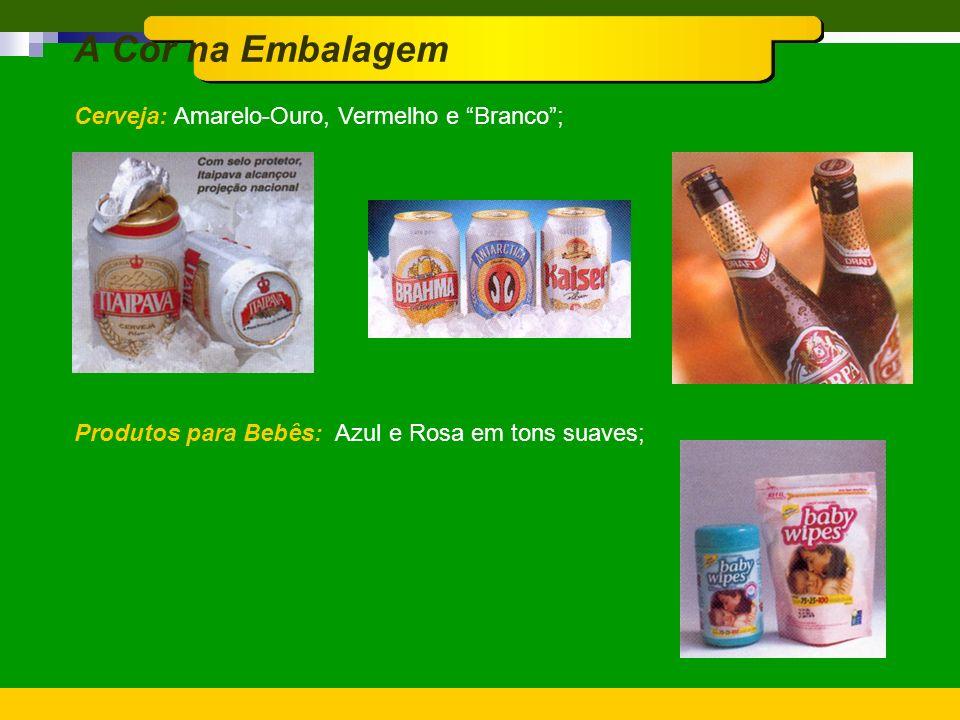 A Cor na Embalagem Cerveja: Amarelo-Ouro, Vermelho e Branco ;